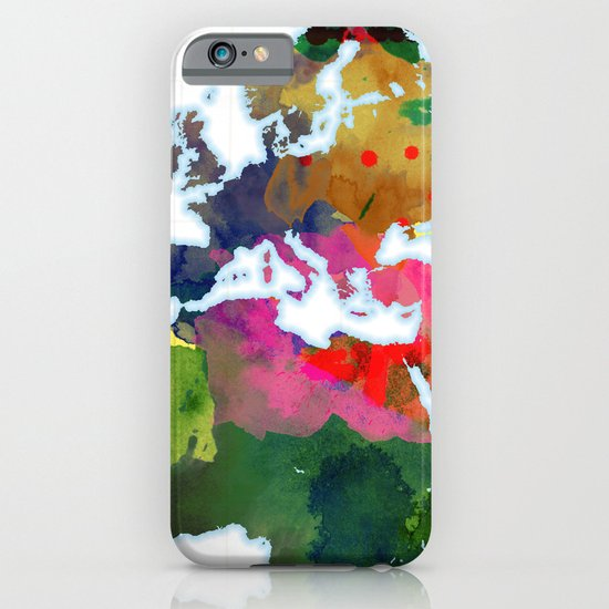 World Map - Watercolor iPhone & iPod Case