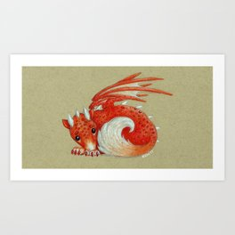 Baby Red Dragon Art Print