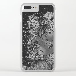 A Moon's Woman * B&W Clear iPhone Case