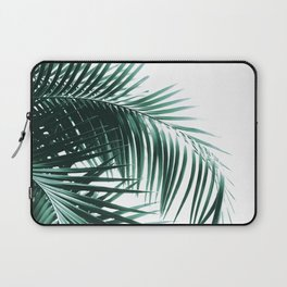 Palm Leaves Green Vibes #8 #tropical #decor #art #society6 Laptop Sleeve
