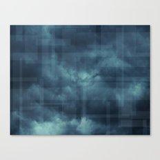 Cotton Candy Clouds Dark Blue Canvas Print