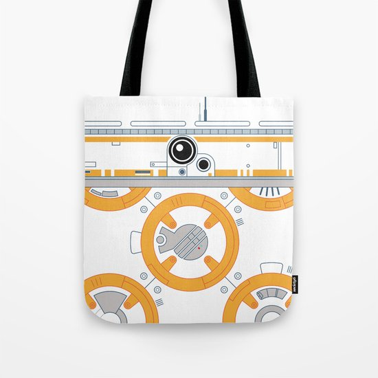 Minimal BB8 Droid Tote Bag