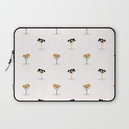 Stylized Single Tree Wood Repeating Seamless Pattern Orange Laptop Sleeve