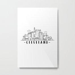 Cleveland Ohio Skyline Cityscape Travel Metal Print