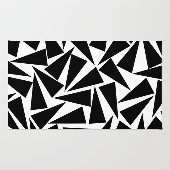 black triangle pattern Rug