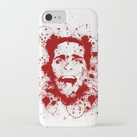 psycho iPhone & iPod Cases featuring American Psycho by David
