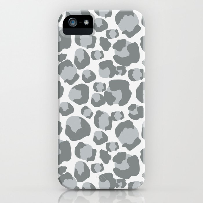 Snow Leopard Feline iPhone Case