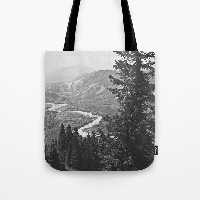 River through the Mountains Tote Bag
