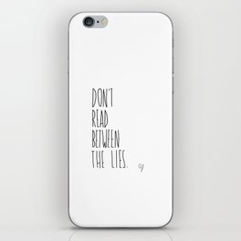 Read Between Lies iPhone Skin