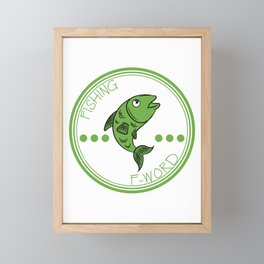 """Fishing is My Second Favorite F Word"" tee design is best for fish-lovers out there and also for you Framed Mini Art Print"