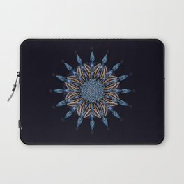Sphinx Moth Pattern In Blue Laptop Sleeve