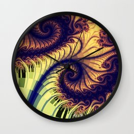 Abstract spirals and patterns Wall Clock