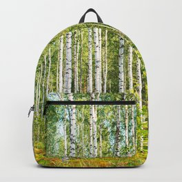 Sunny Day in Beautiful Birch Grove Landscape #decor #society6 #buyart Backpack