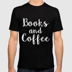 Books and Coffee - Green Black X-LARGE Mens Fitted Tee