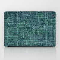 blueprint iPad Cases featuring Apple Blueprint by Rutmer