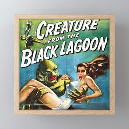 Creature from the Black Lagoon, vintage horror movie poster Framed Mini Art Print