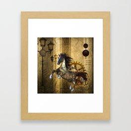 Awesome steampunk horse Framed Art Print