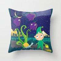 lantern Throw Pillows featuring Lantern  by Lyuda Lavrentyeva | KarrrArt