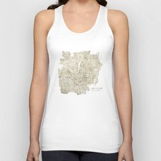 Jackson Mississippi watercolor city map Unisex Tank Top