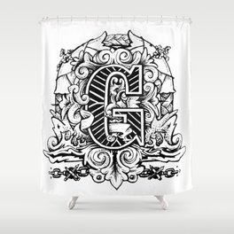 """G"" Shower Curtain"