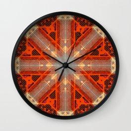 MOROCCAN TILES_in orange Wall Clock