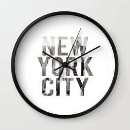 Inspirational Quote New York City Photo Quote Print Typography Art Quote New York Quote Photography Wall Clock