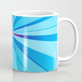 Comic book blue beams Coffee Mug