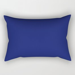Dark Blue Solid Color Collection Rectangular Pillow