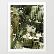 The Streets Below Art Print