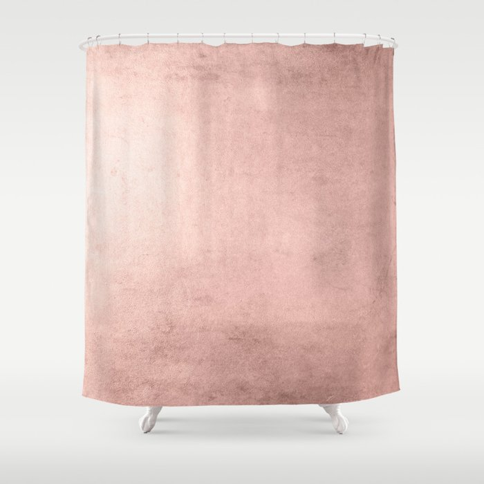Blush Rose Gold Ombre Shower Curtain