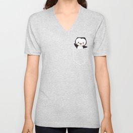Penguin  Unisex V-Neck