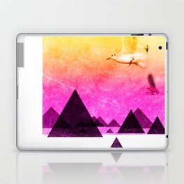 seagulls in shiny sky Laptop & iPad Skin