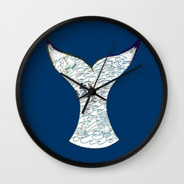 Mermaid Tail Wall Clock