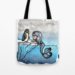 Antarctic Mermaid Tote Bag