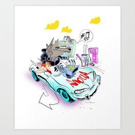 The Love Car Art Print