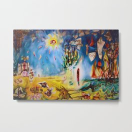Terrestrial Riviera Landscape Abstract Expressionism by R. Matta Metal Print