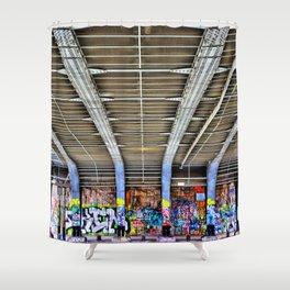 Graffitti Augarten Bridge Vienna Shower Curtain