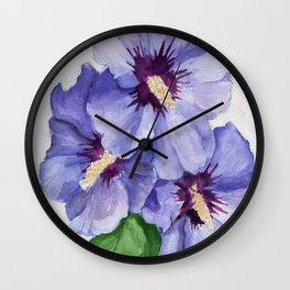 Blue Menage Wall Clock