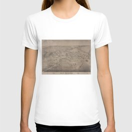 Vintage Pictorial Map of San Marcos Texas (1881) T-shirt