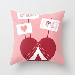 Occupy My Heart Throw Pillow