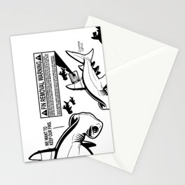 FIN REMOVAL WARNING LABEL - #stopsharkfinning Stationery Cards