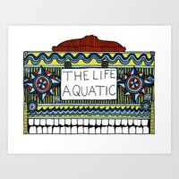 the life aquatic Art Prints featuring Life Aquatic  by Eirik Walland Larsen