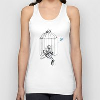 nicolas cage Tank Tops featuring Cage by Eyad Shtaiwe
