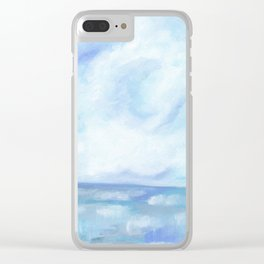 Warm Fall Days - Tropical Ocean Seascape Clear iPhone Case
