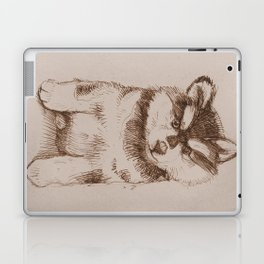 Husky puppy. Sketch. Laptop & iPad Skin