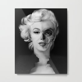 Dead Celebrities Series Half Skull Metal Print
