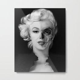 Dead Celebrities Series Half Skull Metal Print