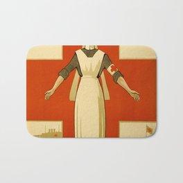 Vintage poster - Red Cross Bath Mat
