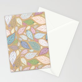 Favorite botanical leaves collection in pastel colors Stationery Cards