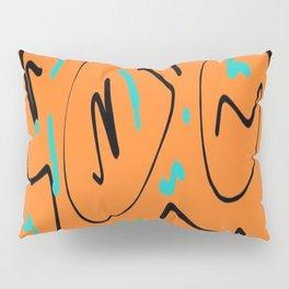 Ocre black blue Pillow Sham